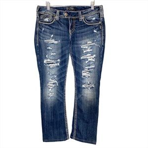 Silver Jeans Tuesday deconstructed jeans